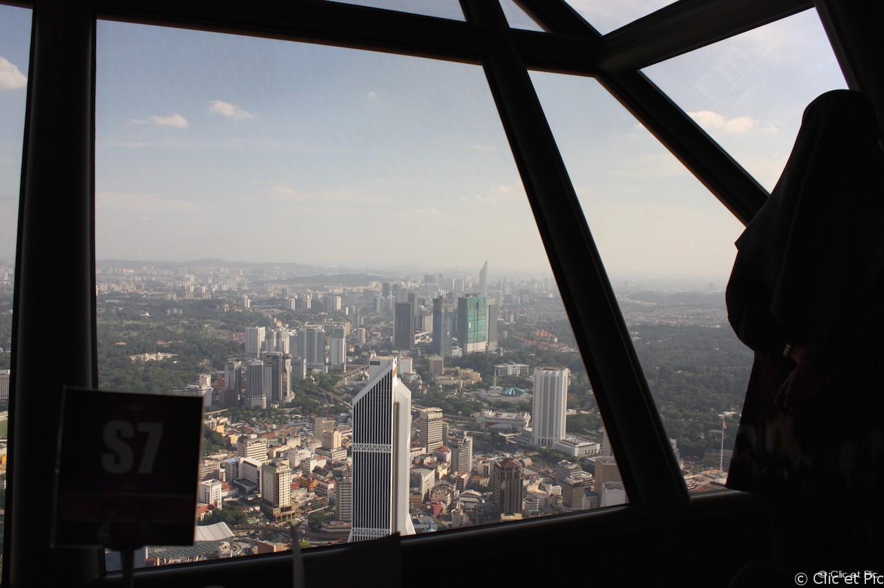 Vue depuis la tour KL - Kuala Lumpur