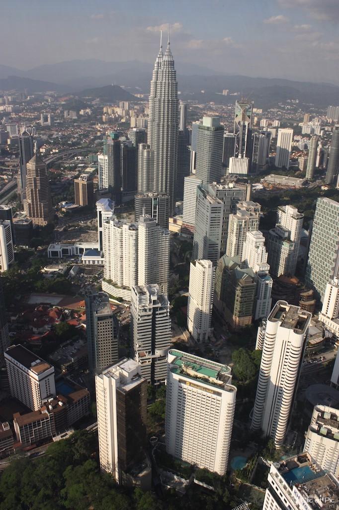 Autre Vue depuis la tour KL - Kuala Lumpur