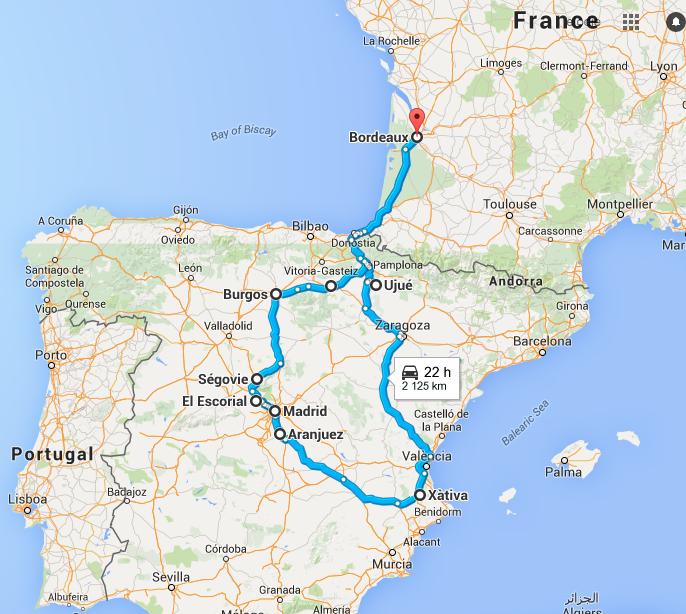 Itinéraire Roadtrip Espagne