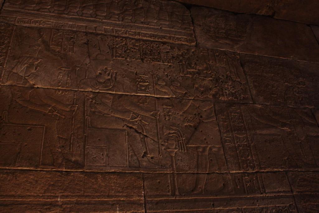 Hiéroglyphe - Temple d'Amon - Madrid