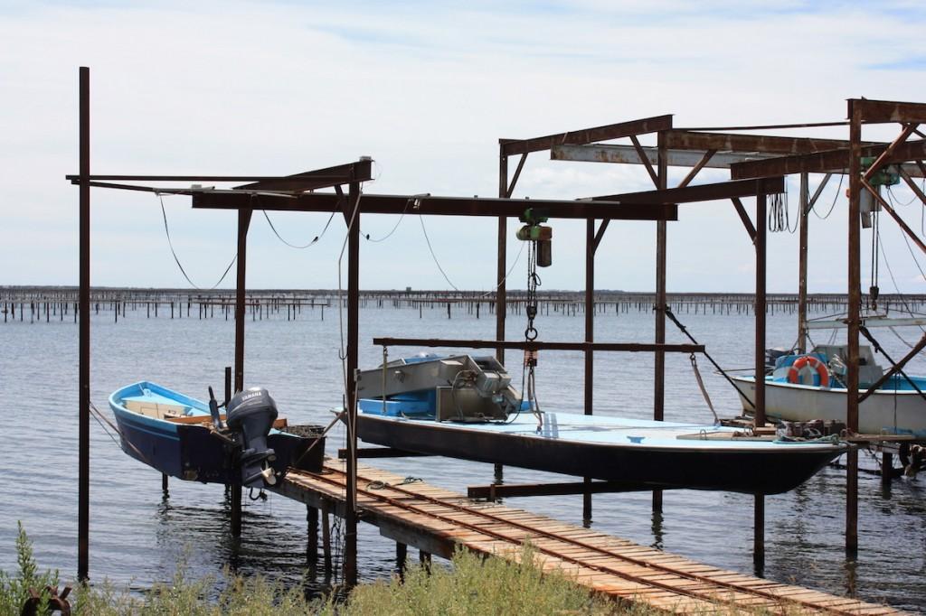 Les bateaux plats des ostréiculteurs